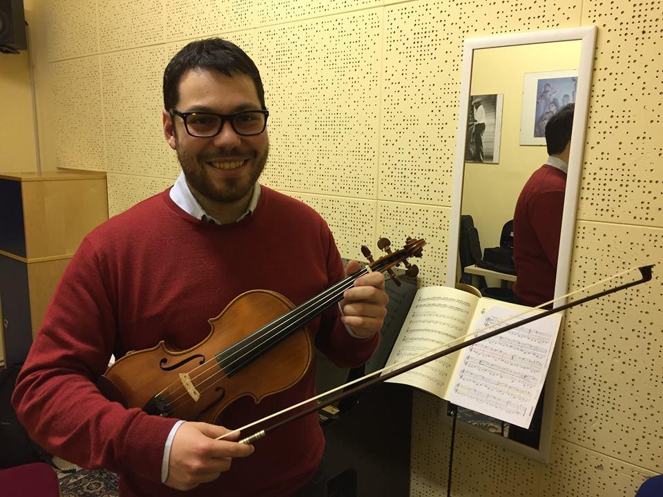 Gabriele Centorbi direttore d'orchestra dell'università di Firenze
