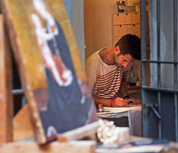 Marco Caratelli, pittore senese che espone a Soho