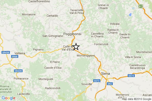 Due forti scosse di terremoto a Siena