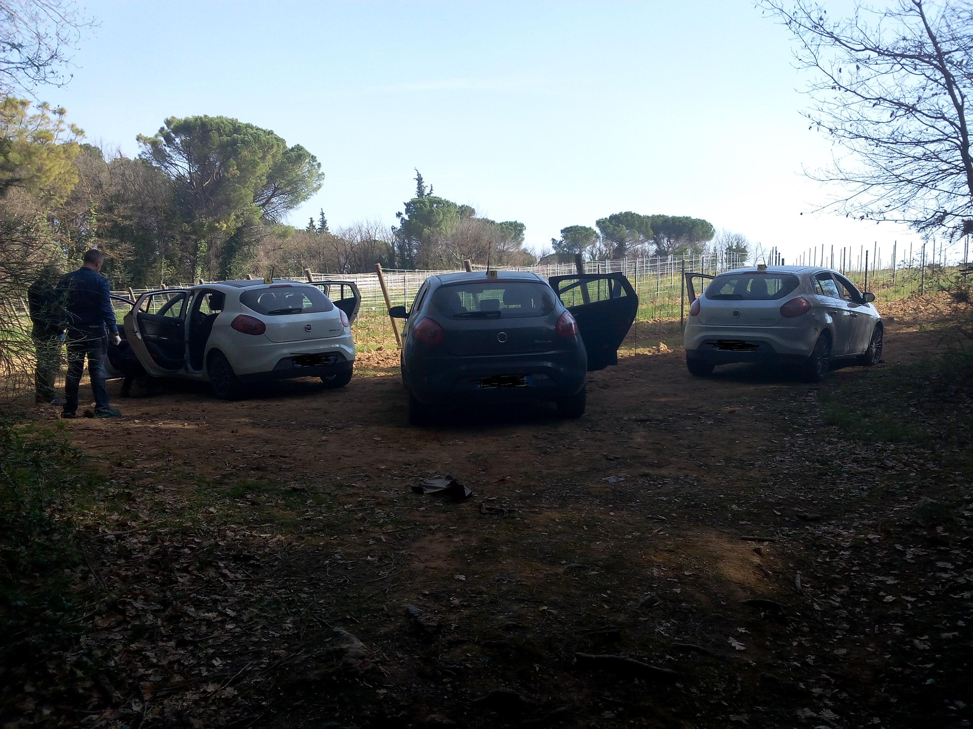 Le auto del commando rubate a Potenza e Bari