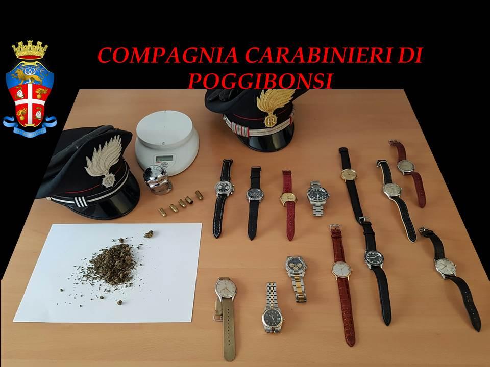 Orologi di lusso rubati, recuperati dai carabinieri