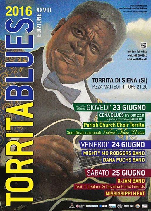 Il grande blues stasera su Siena Tv con Il Torrita Blues Festival