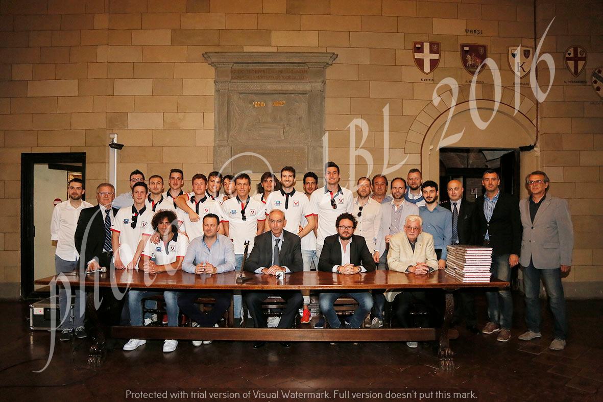 L'impresa della Virtus Siena festeggiata in Comune