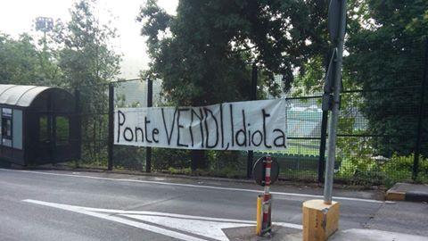 Robur, duro striscione contro Antonio Ponte