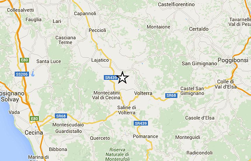 Terremoto a Volterra, sisma avvertito in Val d'Elsa