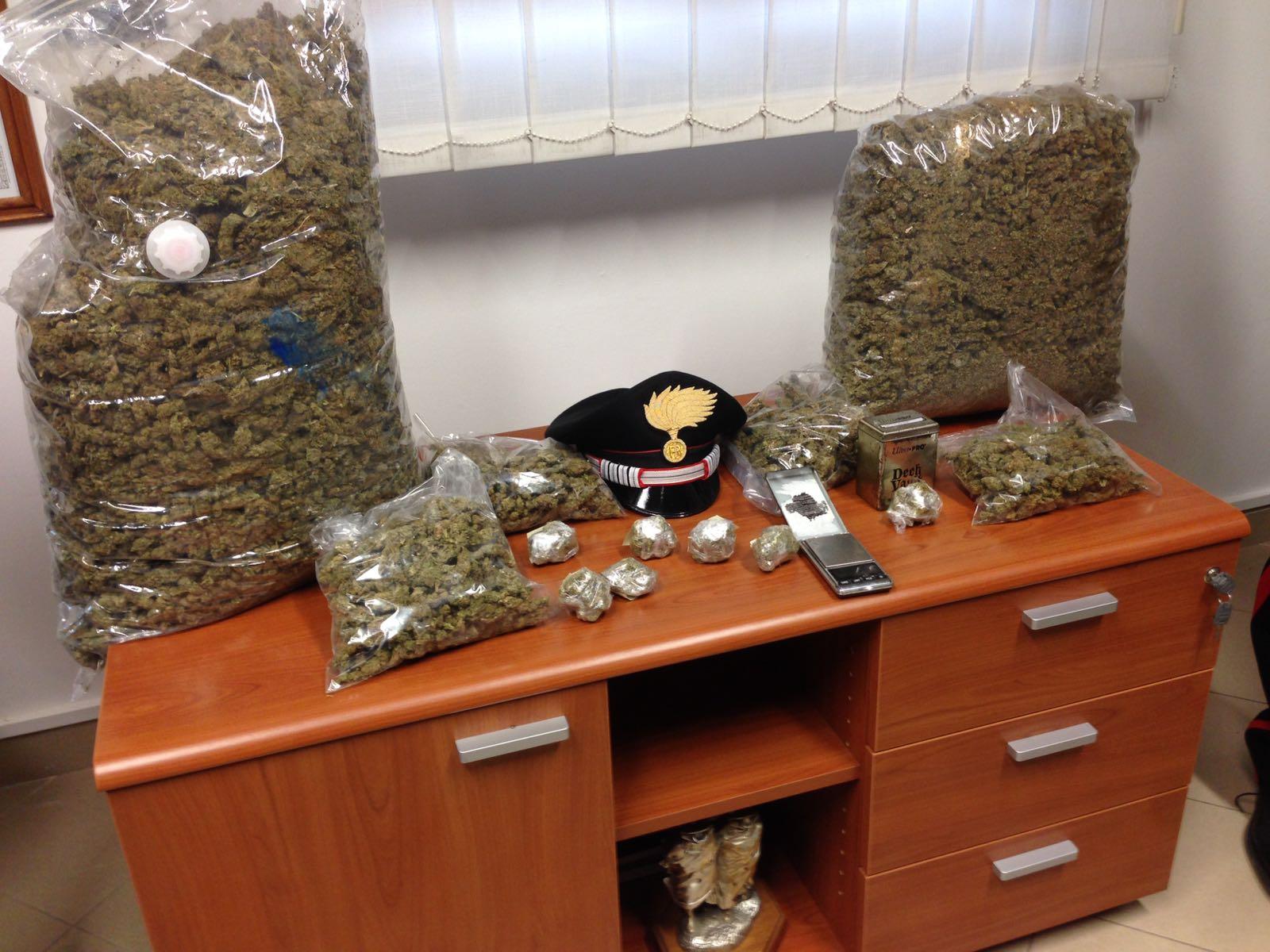 Dieci chili di marijuana: arrestati fratelli e fidanzata insospettabili