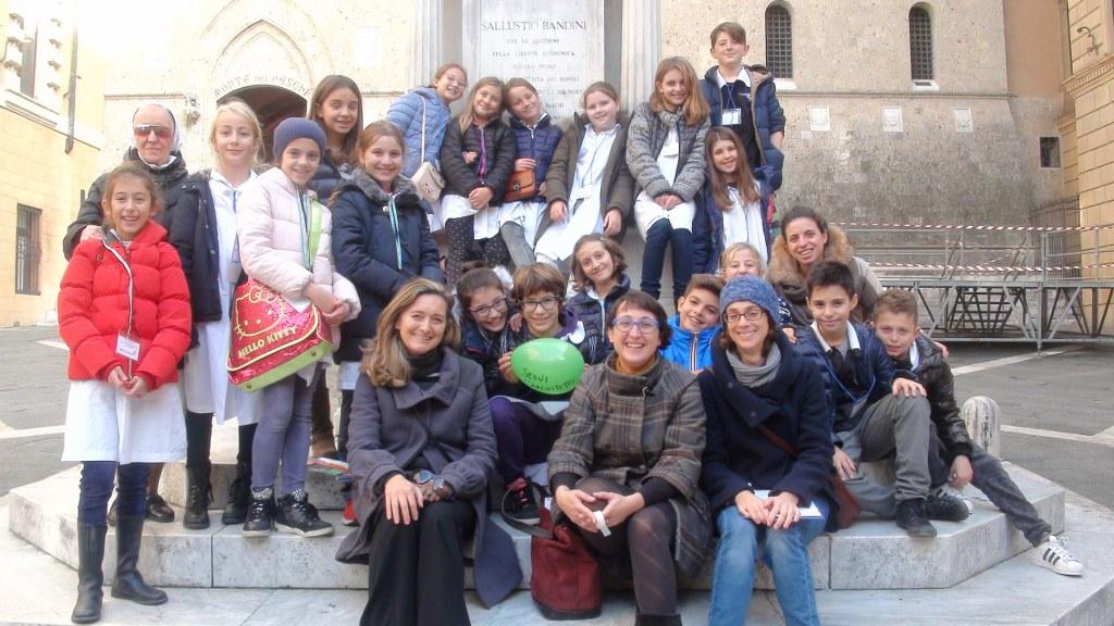 I bambini a spasso per Siena con gli architetti