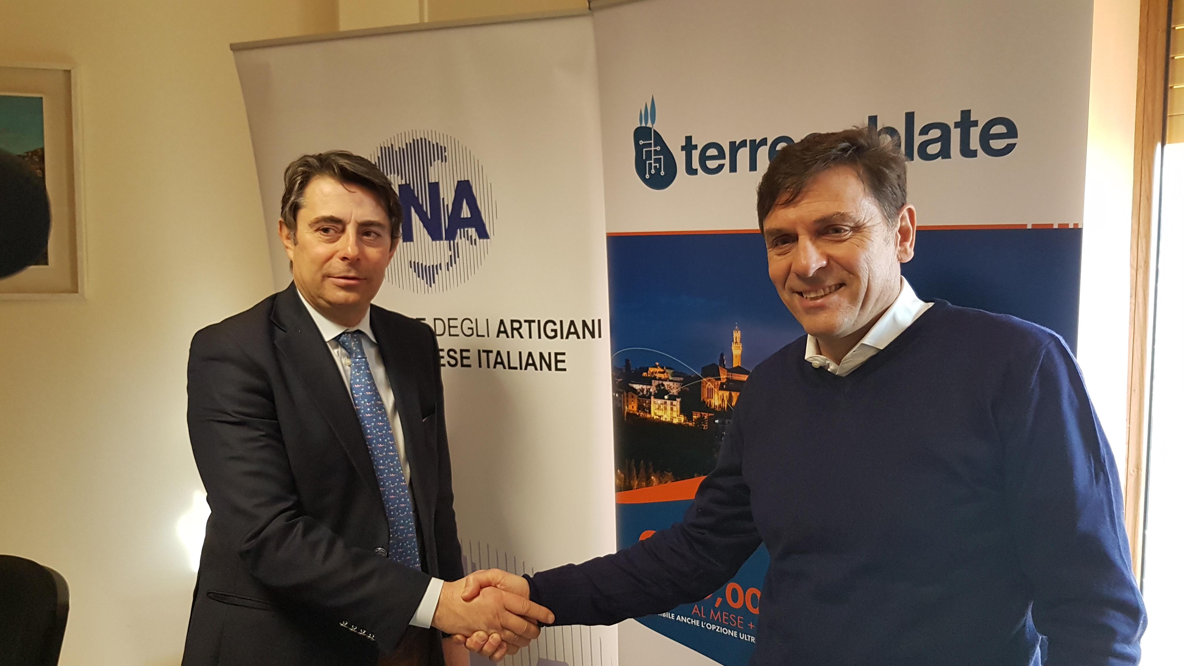 Rete e web di qualità con l'accordo  siglato fra Cna Siena e Terrecablate