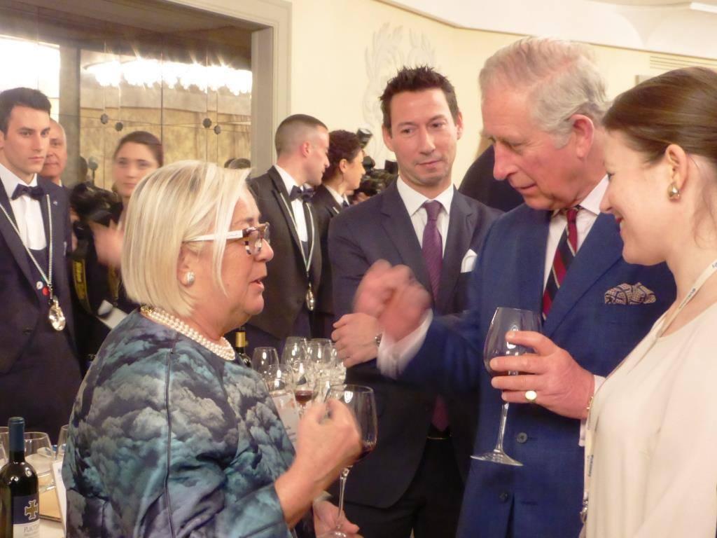 Donatella Cinelli Colombini incontra il principe Carlo