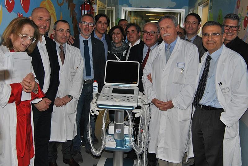 Inaugurato ecografo mobile di ultima generazione in pediatria