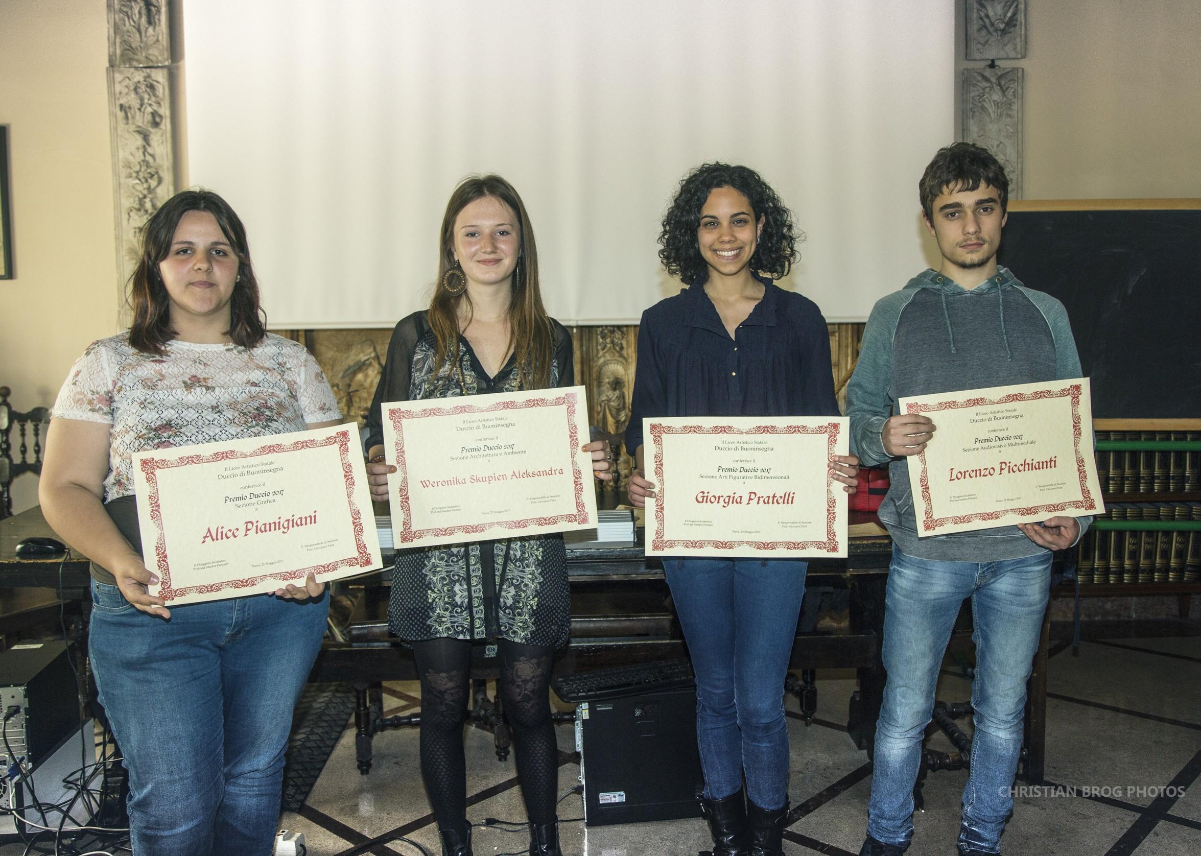 Duccio di Buoninsegna 2017: ecco tutti gli studenti del Liceo Artistico premiati