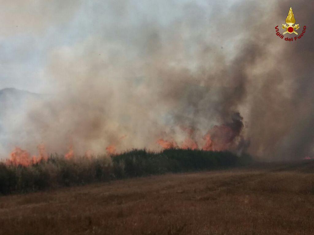 Vasto incendio a Poggibonsi: mezza Toscana a fuoco