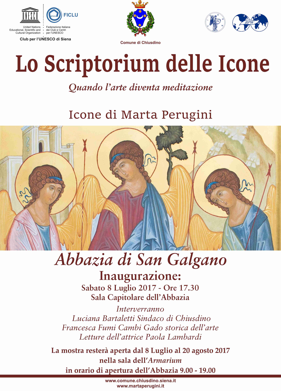 """Mostra di Marta Perugini """"Lo Scriptorium delle Icone"""" all'Abbazia di San Galgano"""