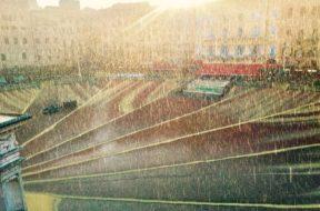 pioggia piazza del campo