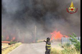 incendio amiata vigili del fuoco