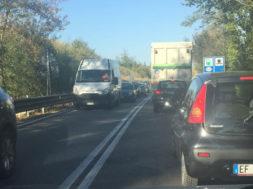 incidente tangenziale traffico coda fila