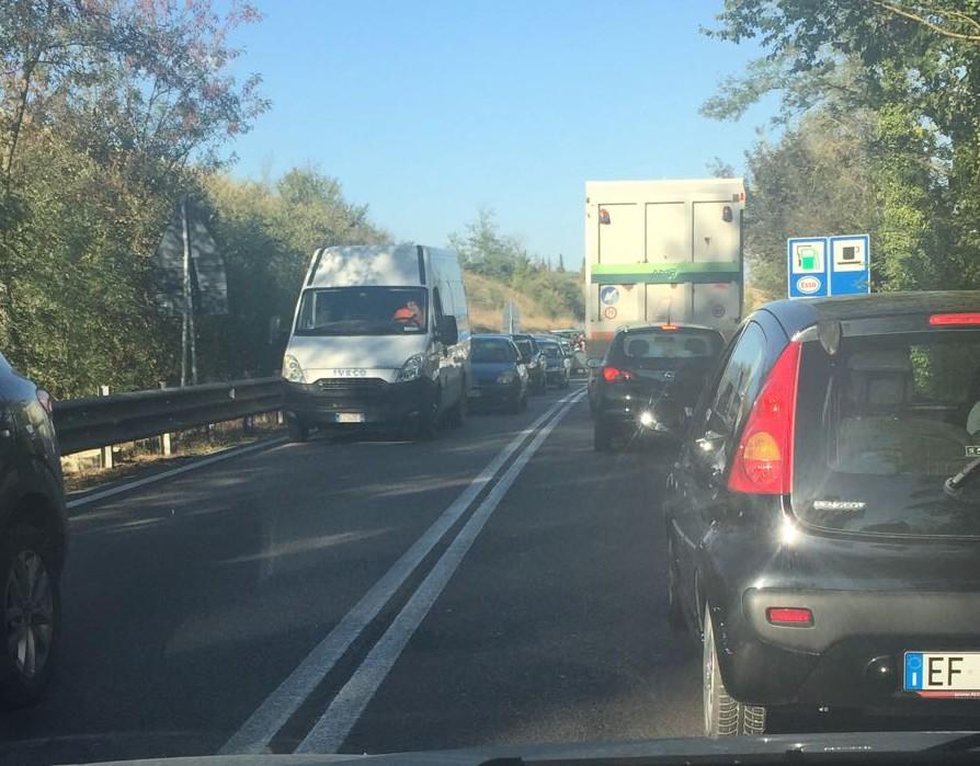 Autopalio: code di km per lavori sulla Siena – Firenze, chiusa l'uscita di Impruneta