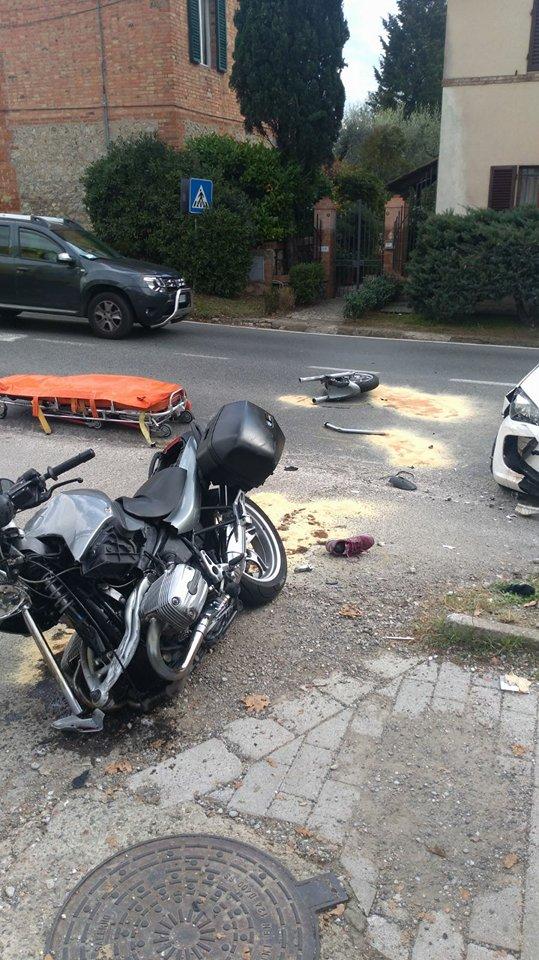 Le due vittime dell'incidente alla Tognazza ricoverati alle Scotte con fratture multiple