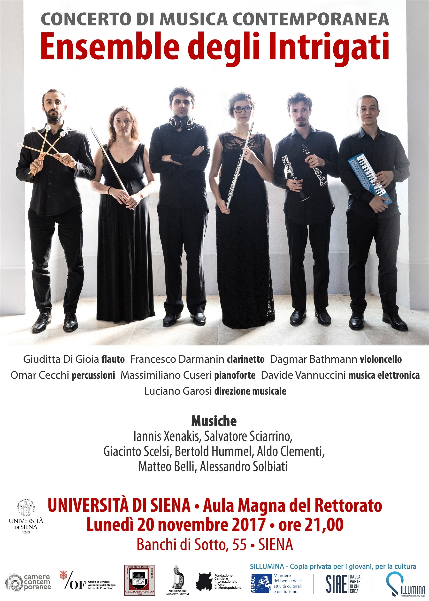 "Un appuntamento ""intrigante"" di musica contemporanea all'Università di Siena"
