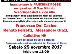PANCHINE ROSSE – 25 NOVEMBRE 2017
