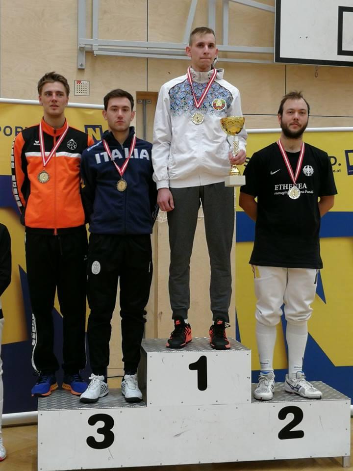 Scherma, Bernardo Crecchi medaglia di bronzo in Austria
