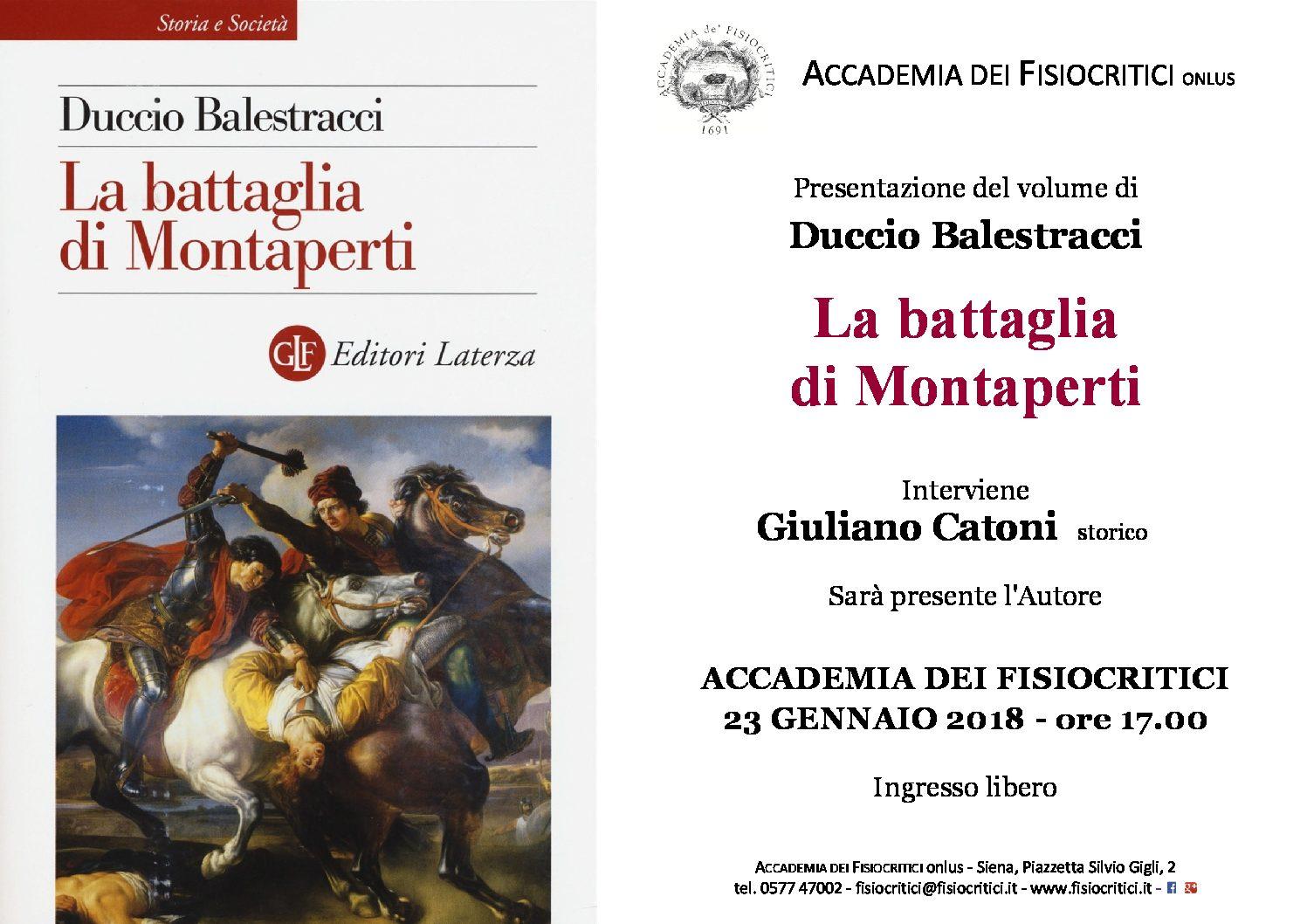Locandina volume Montaperti