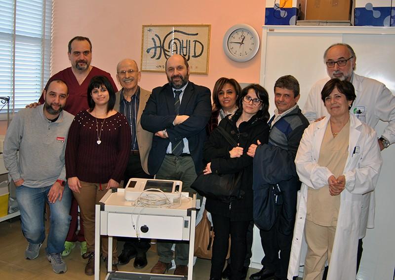 Donato elettocardiografo all'AOU Senese per ricordare Antonio Esposito nel giorno del suo compleanno