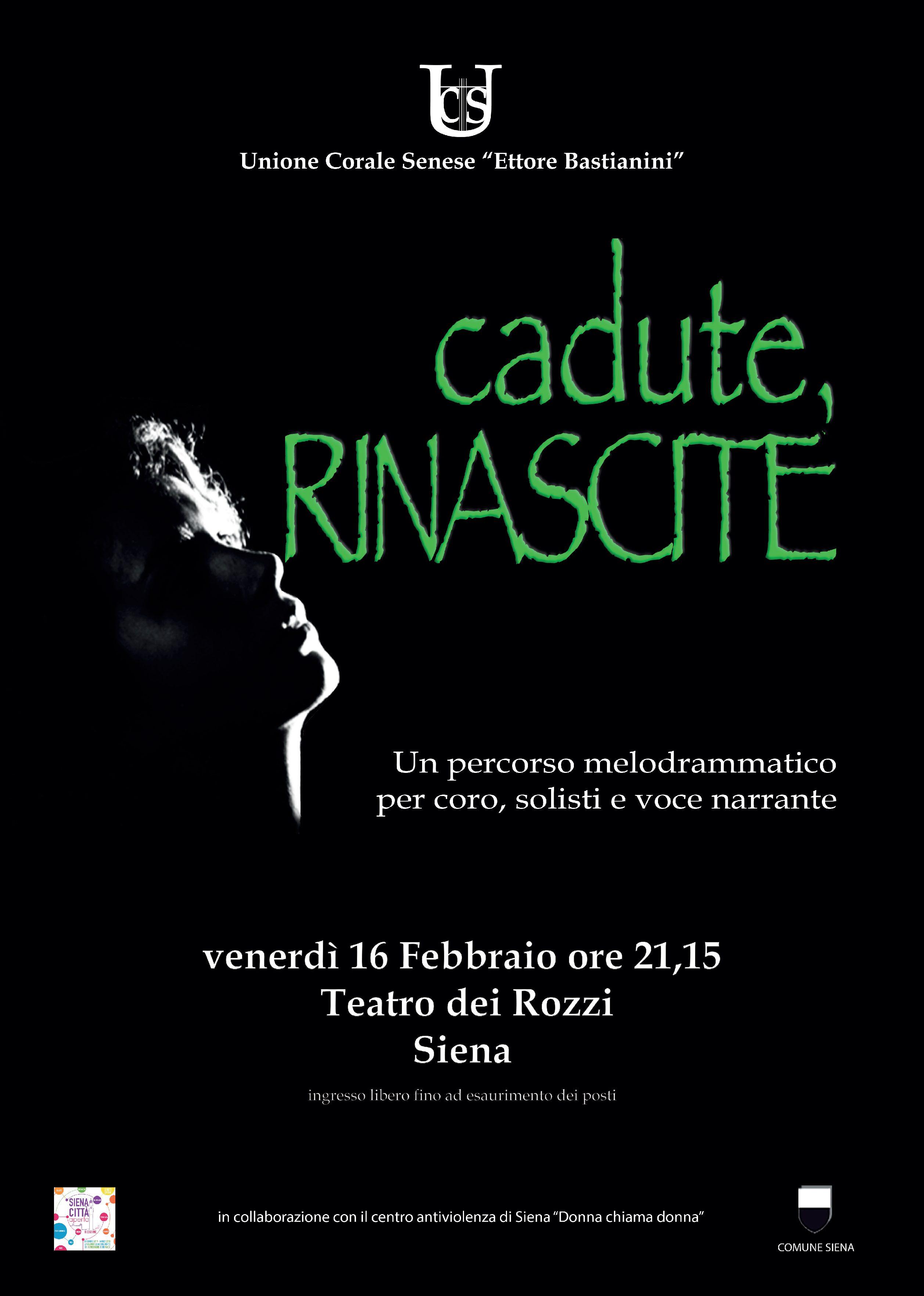"""""""Cadute, RINASCITE"""", al Teatro dei Rozzi la risposta coraggiosa alla violenza sulle donne"""