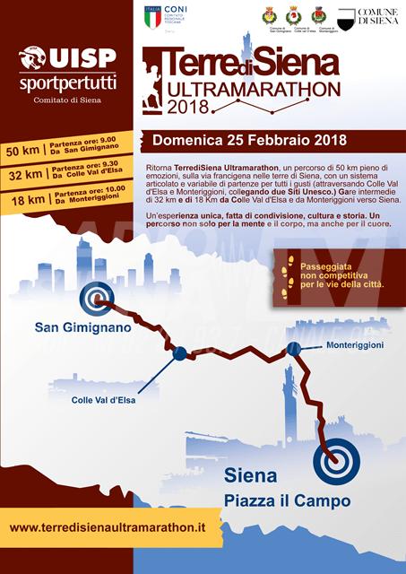 Terre di Siena Ultramarathon, disposte il 25 febbraio in città modifiche alla viabilità