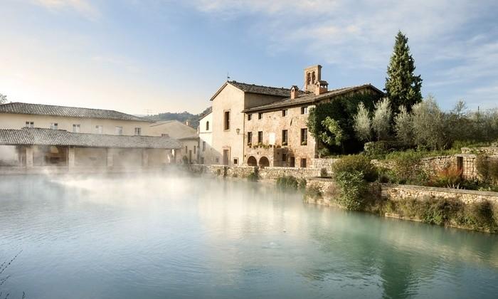 Bagno vignoni luned 12 apre il cantiere del nuovo stabilimento termale radio siena tv - Il loggiato bagno vignoni ...