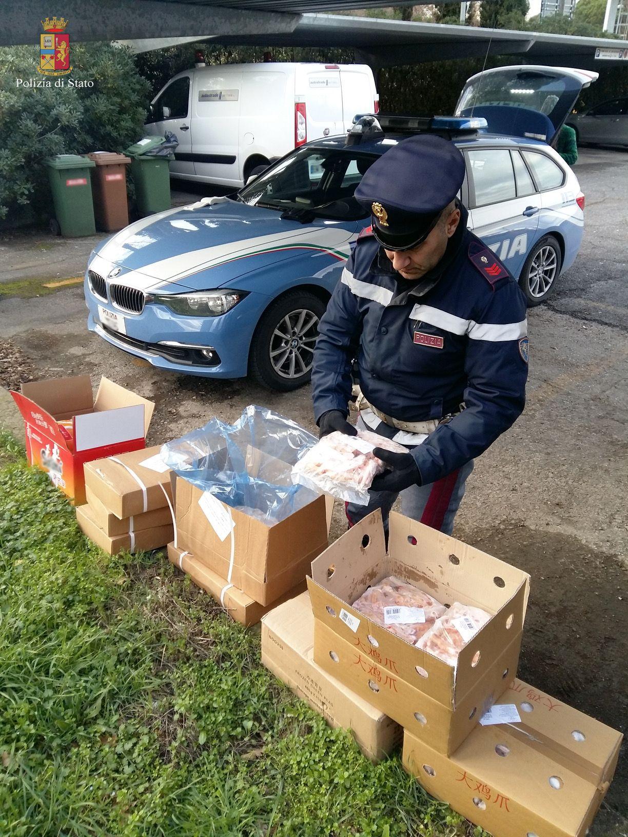 Ristoratore cinese trasporta un quintale di cibo conservato non a norma: multa di 1300 euro