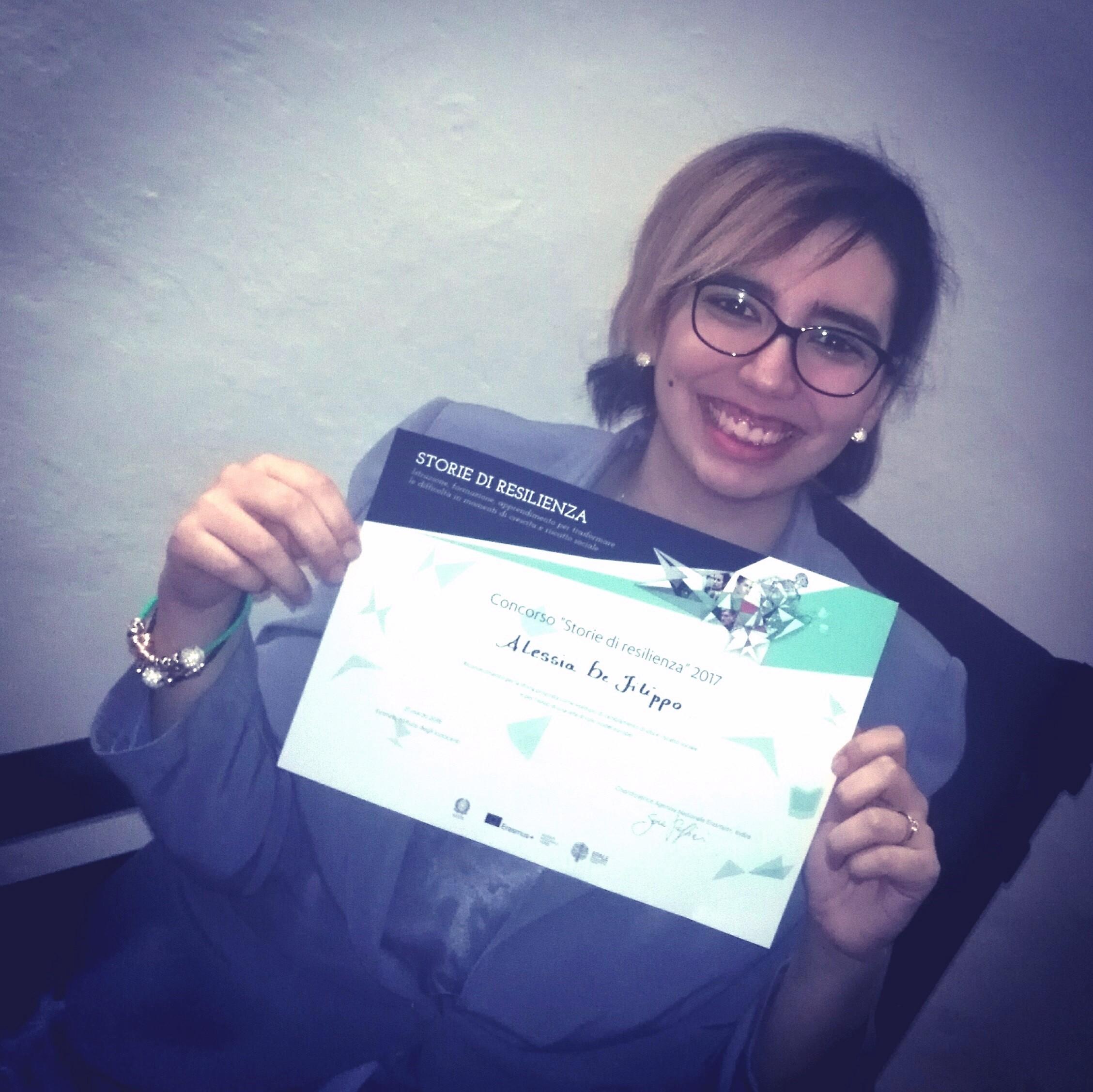 La studentessa Unisi Alessia De Filippo premiata dall'agenzia nazionale Erasmus
