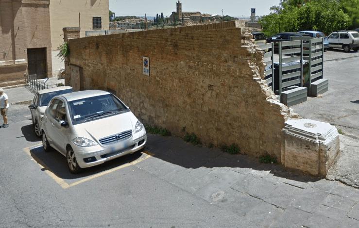 Comune e Siena Parcheggi, intervento in via Sant'Agata per ricostruire il muro di fronte alla mensa
