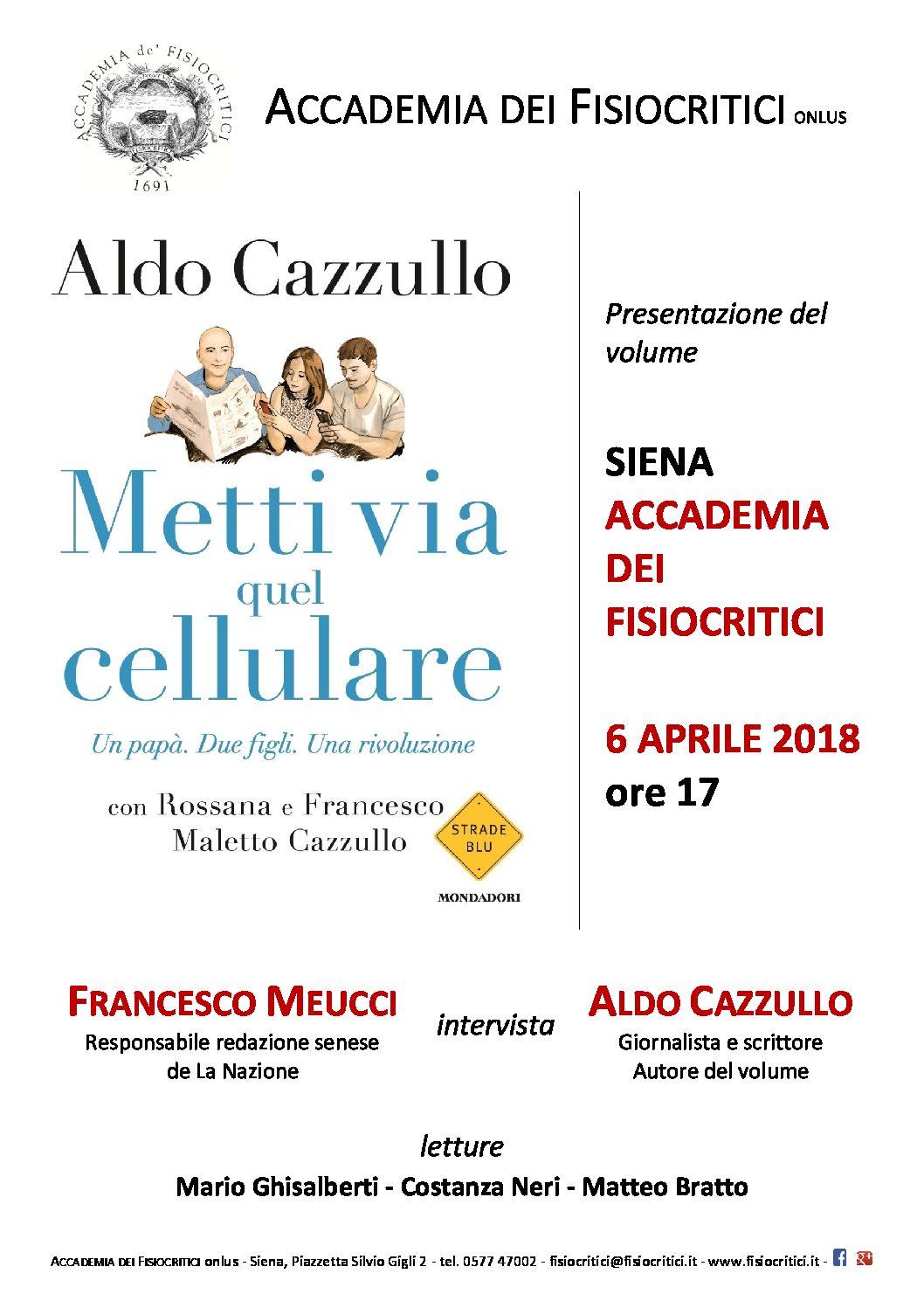 presentazione libro di Aldo Cazzullo