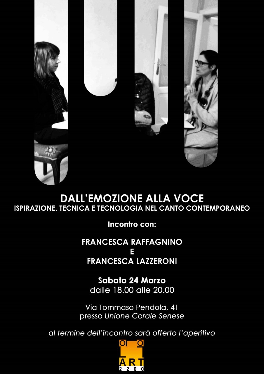 Dall'emozione alla voce, domani una serata dedicata al canto contemporaneo