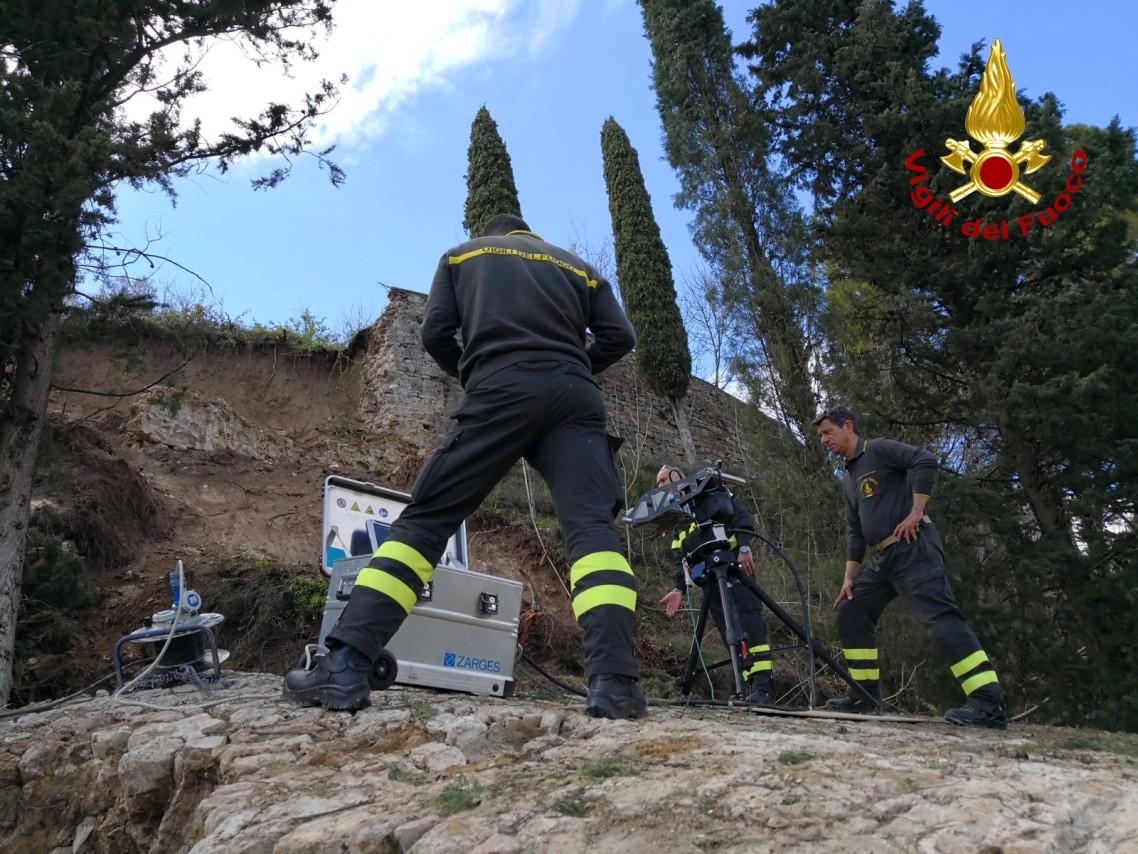 Crollo mura San Gimignano, chiesto il supporto del Centro Operativo Nazionale