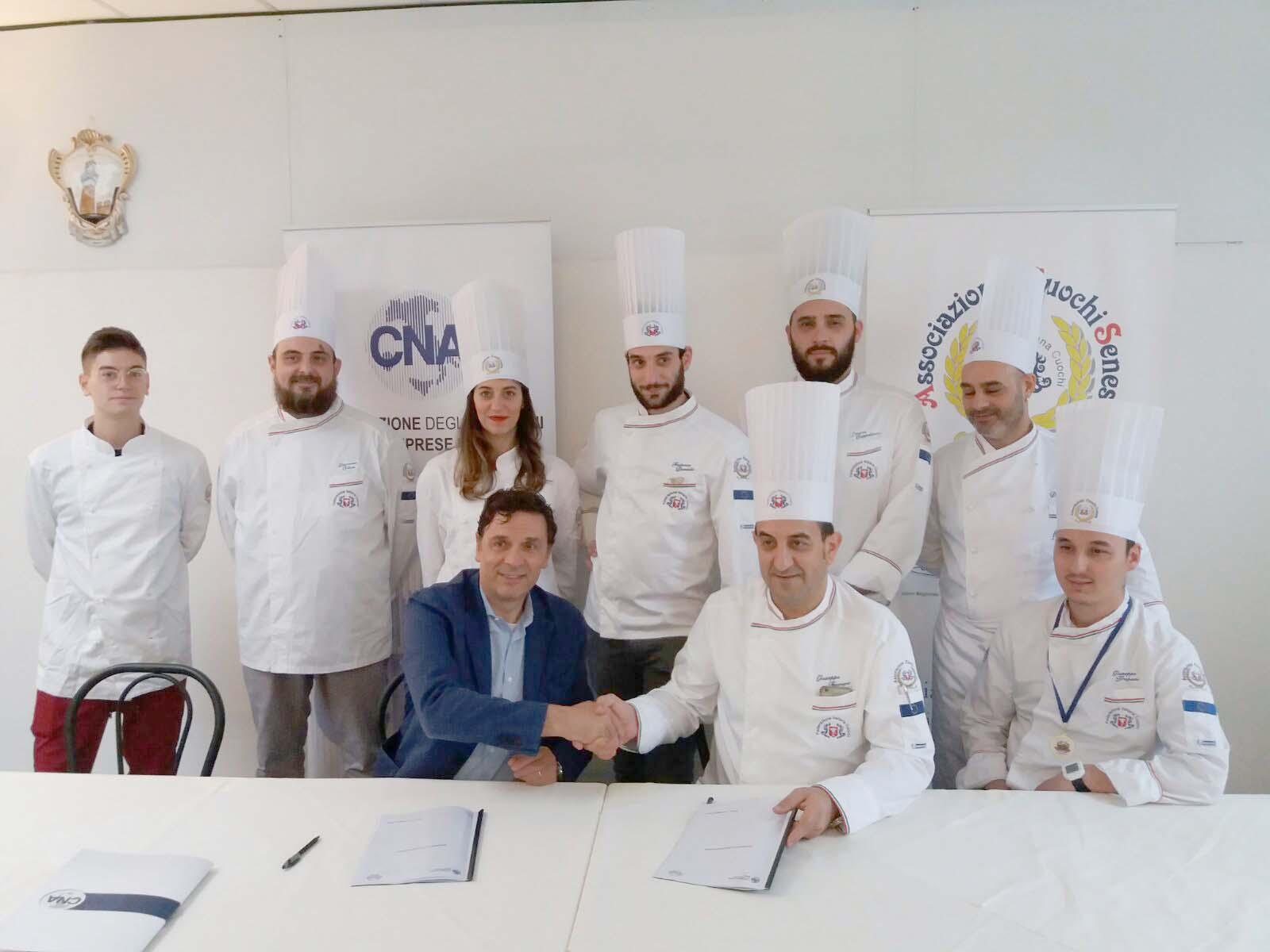 Accordo fra Cna e Associazione Cuochi Senesi, nuova sinergia per il settore gastronomico e della ristorazione