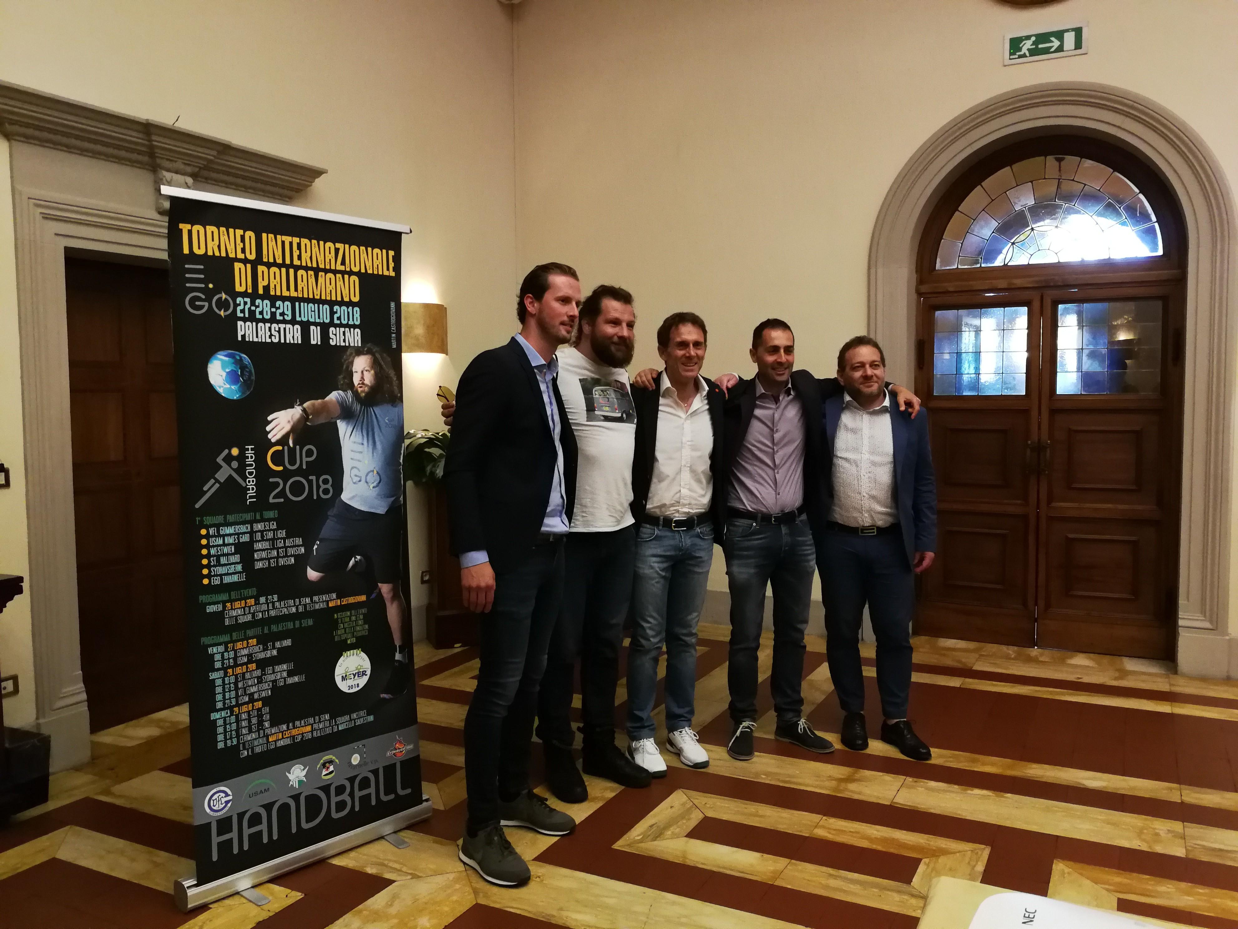 Presentata la prima edizione di Ego Handball Cup: a Siena il torneo internazionale di pallamano