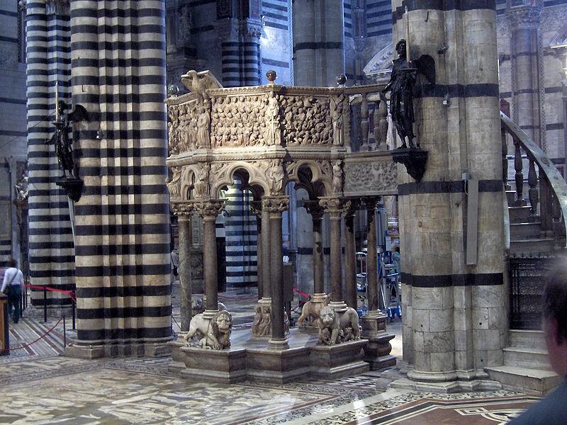 Completato il restauro del pulpito del Duomo di Siena