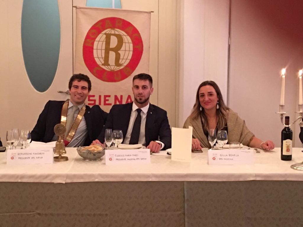Rotaract Club Siena, Eugenio Mazzi è il nuovo presidente per il 2018-2019
