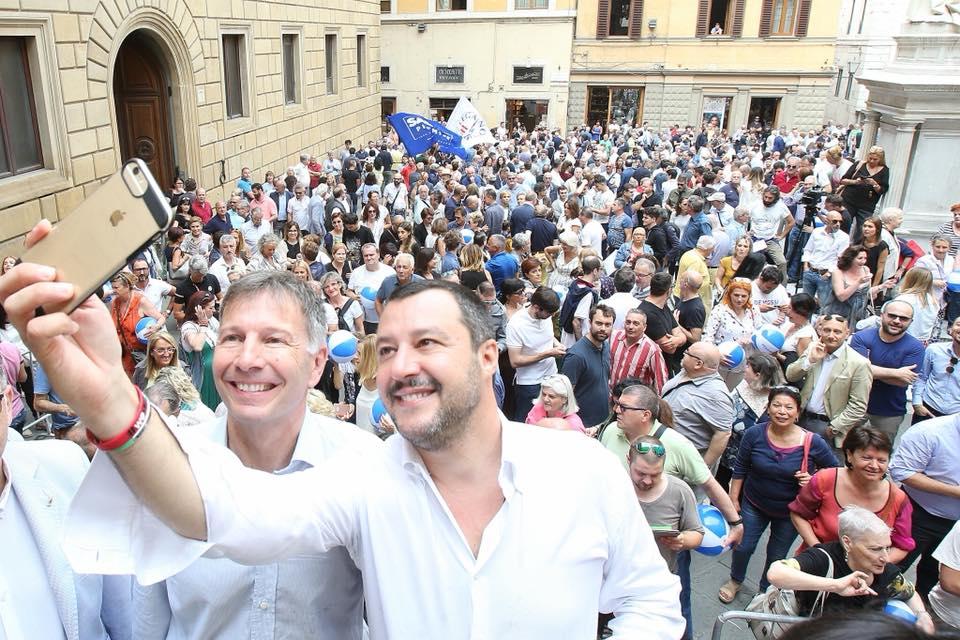 """Elezioni regionali, Salvini: """"Siena è parte della valida rete di sindaci di centrodestra in Toscana"""""""