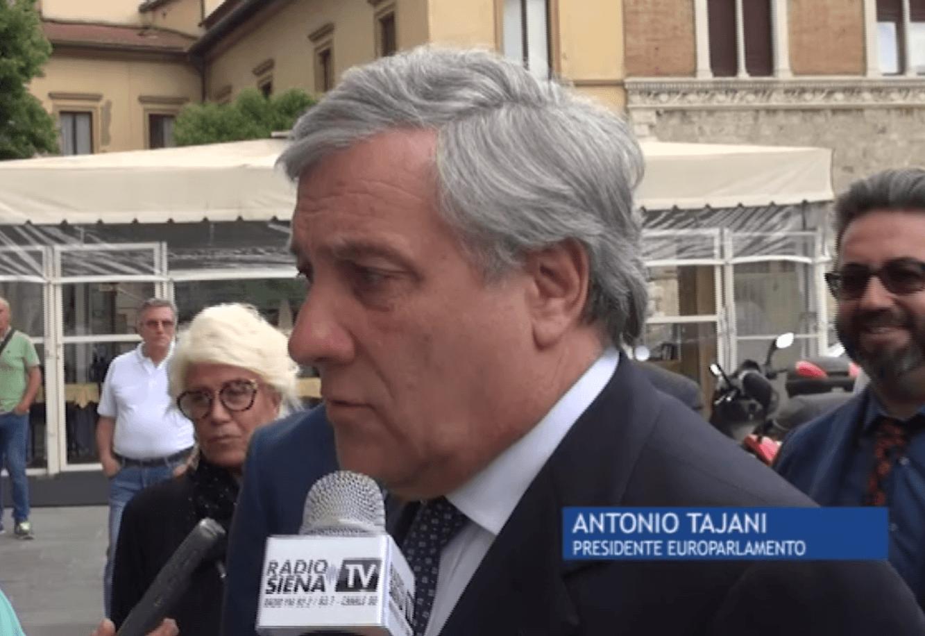 """Tajani lancia la volata a De Mossi: """"Anche a Siena soffi il vento del cambiamento"""""""