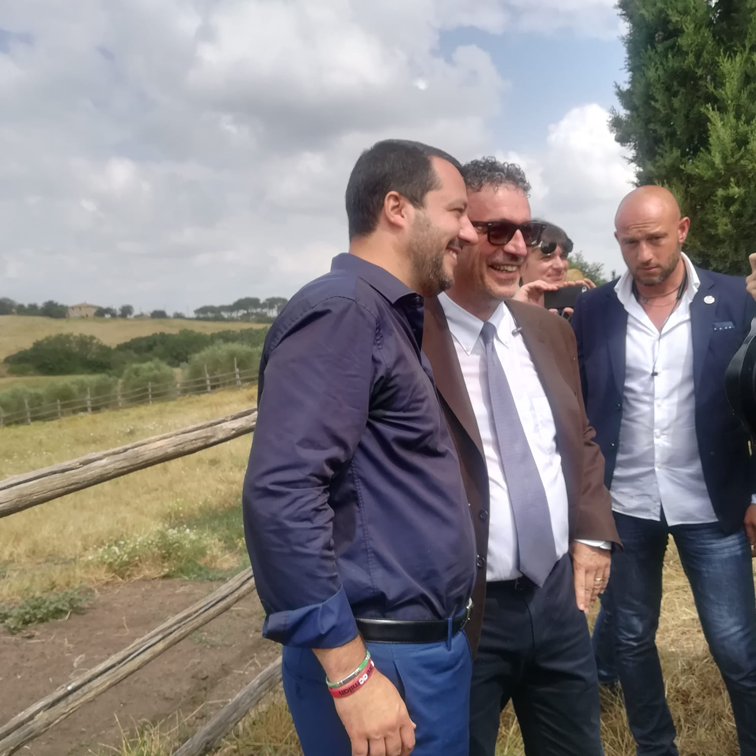 """Salvini: """"Non condanno la scaramuccia in Piazza dopo il Palio. Fa parte della tradizione"""""""