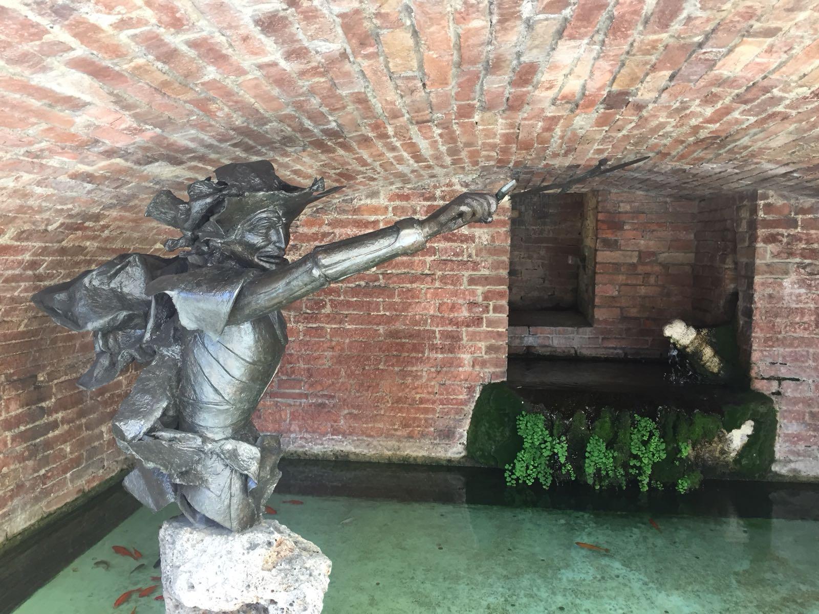 Fontanina del Bruco, riparata la spada di Barbicone