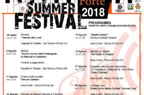 locandina summer festival 2018