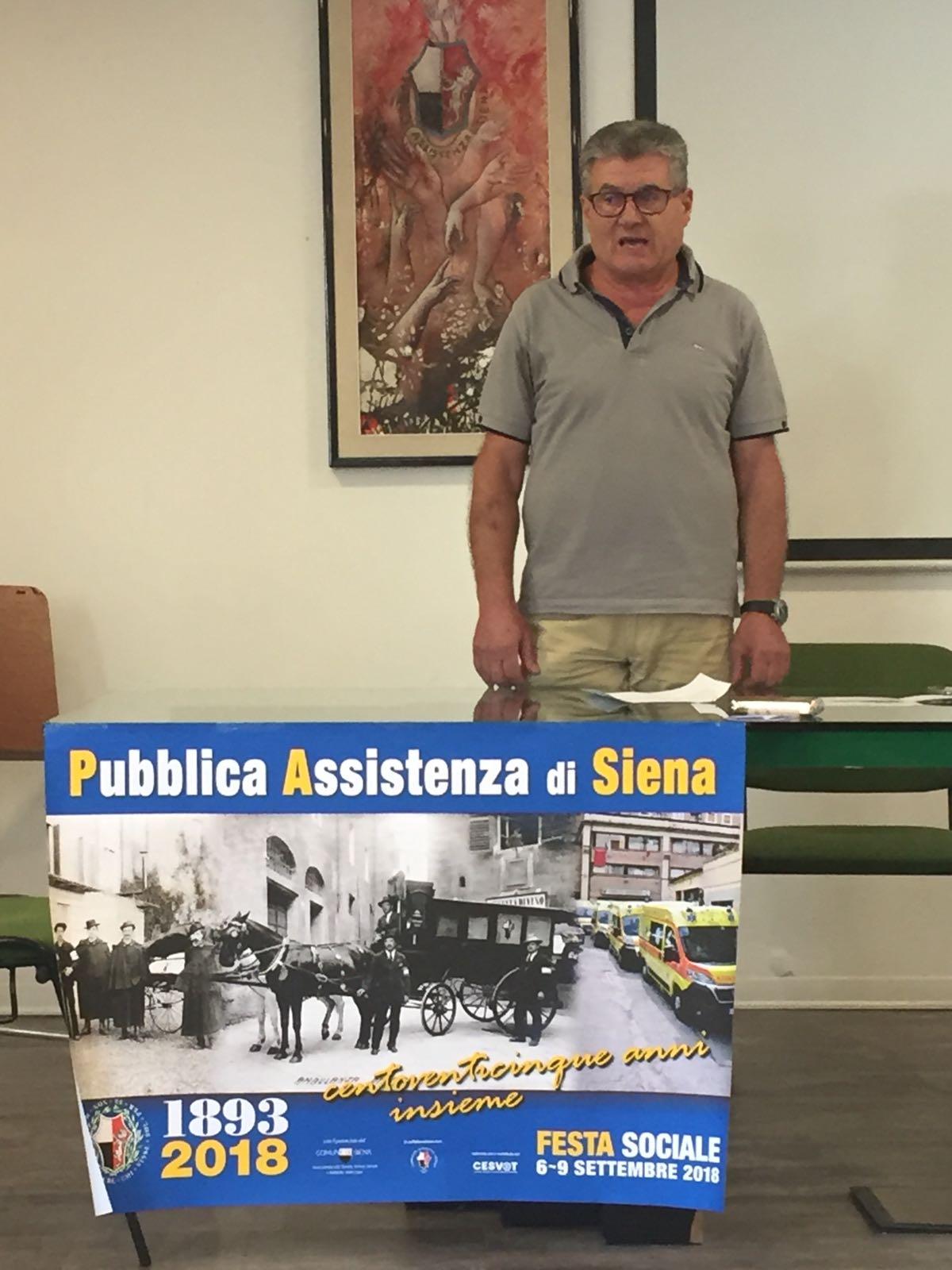 Presentata la festa per i 125 anni della Pubblica Assistenza di Siena