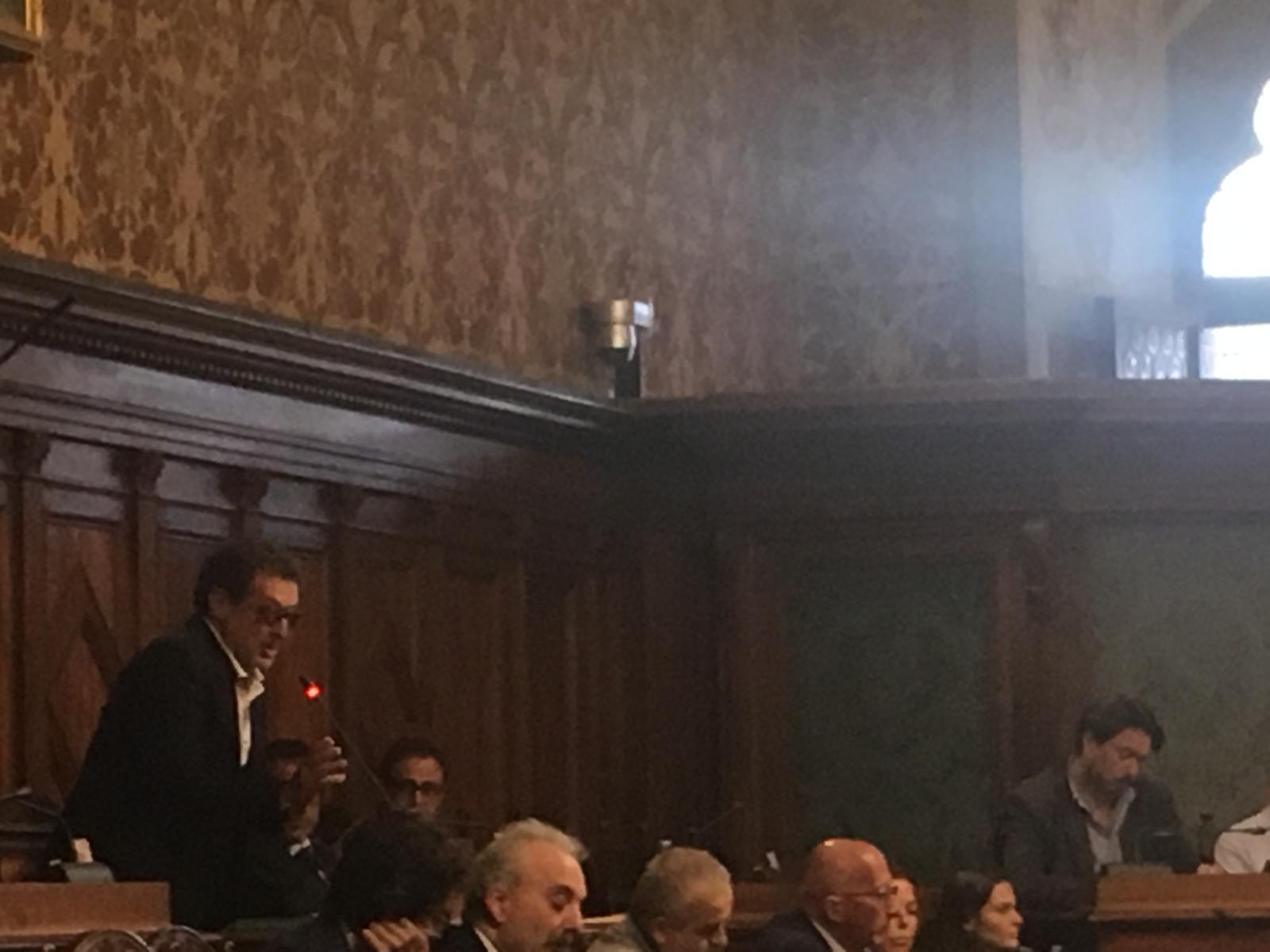 Paolo Benini annuncia il voto a favore al Palio strordinario