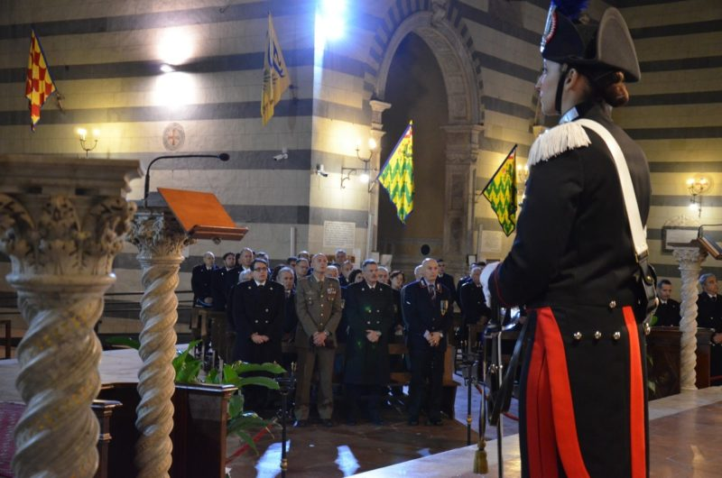 I carabinieri di Siena rendono omaggio alla loro patrona, la Virgo Fidelis