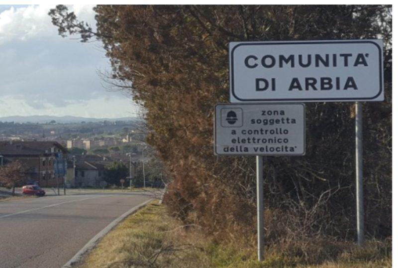 """Cartello """"Comunità di Arbia"""", la posizione della Lega di Asciano"""