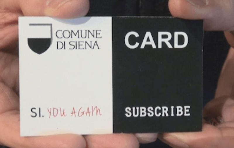 """Ecco la card turistica """"Si you again"""", per tornare più volentieri a Siena"""
